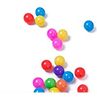 justfund 100個カラフルなソフトプラスチック海洋ボールBPAフリーCrush ProofプラスチックボールベビーキッドおもちゃSwim Pitおもちゃボールボールピットベビー子供テント