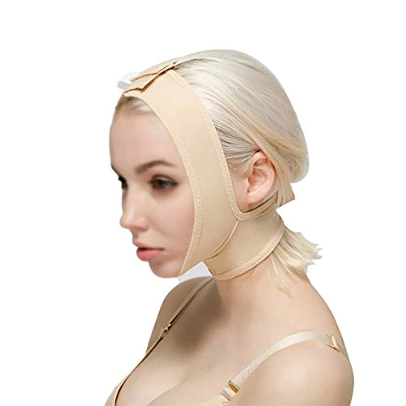 プロペララグ思い出させるTLMY 顔と首のリフト減量術後弾性スリーブジョーセット顔のアーティファクトV顔の顔の顔の二重あごの薄い顔のかつら 顔用整形マスク (Size : XXL)