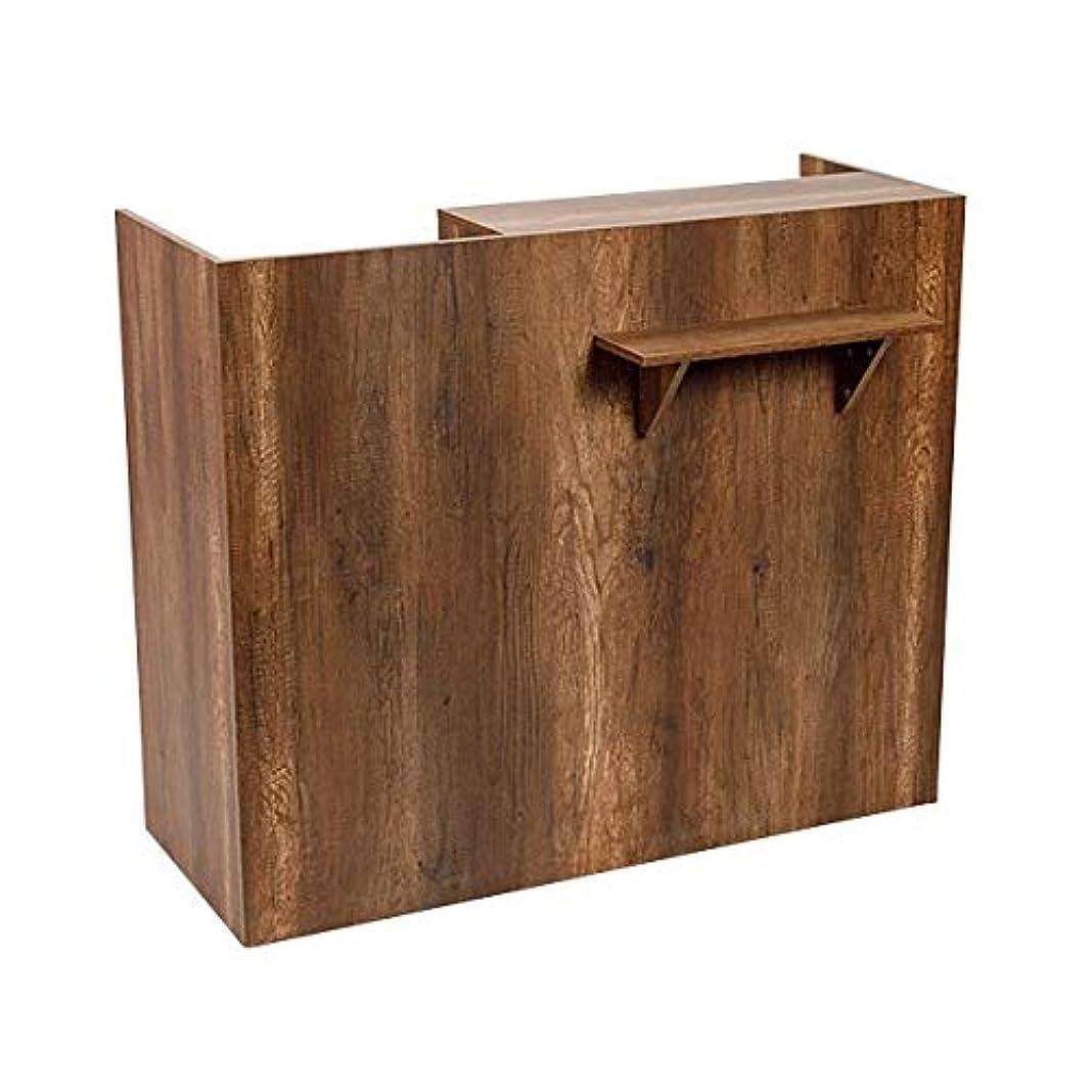 舞い上がるスツール準備ができて木製レジカウンター (ライトブラウン) FV-2531 [W1200] レジカウンター レジ台