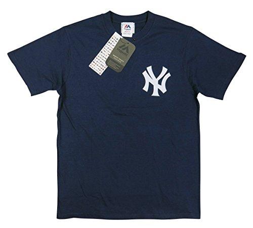 (マジェスティック)MAJESTICニューヨーク ヤンキース フェルト ワッペン 半袖 Tシャツ M NAVY(ネイビー)
