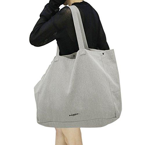 [해외]여성 토트 백 귀여운 간단 여성 가방 어깨 접을 캔버스 가방 휴대용 가방 2WAY 가방 에코 가방 쇼핑 가방 대용량 2 컬러 48 * 38CM 그레이/Ladies Tote Bag Cute Simple Ladies` Bag Shoulder Folding Canvas Bag Handbag Bag 2 WAY Bag Eco Bag Sho...