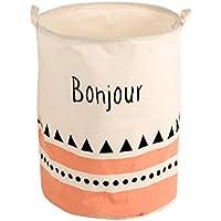 Perfk 便利 コットンリネン ランドリー 洗濯物 収納 バスケット 折り畳み式 家庭用 全2タイプ 選ぶ  - Bonjour