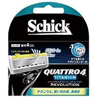 シック(Schick) クアトロ4チタニウムレボリューション替刃(4コ入) ×1点