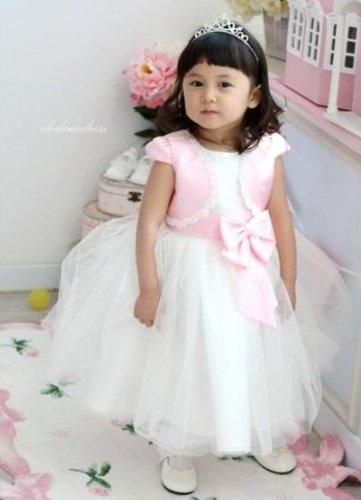 キラキラ ティアラ ハート & クロス に揺れる 大粒 ダイヤ ( ティアラの 髪飾り 付き ) 子供 衣装 ドレス カチューシャ 舞台衣装 結婚式 パーティー