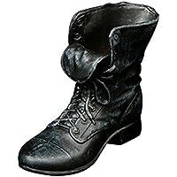 Dovewill 12インチ男性アクションフィギュアのため レザーアンクルブーツ シューズ 靴 全2カラー - ブラック