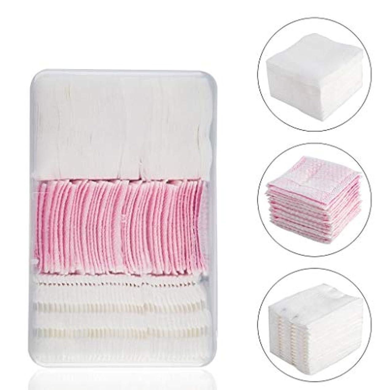 芸術シャンパンデータムクレンジングシート コンビネーション使い捨て厚い綿パッド薄いパッドクリーニングワイパーリムーバーソフト多層クレンジングタオルタオルパッド (Color : White or Pink)