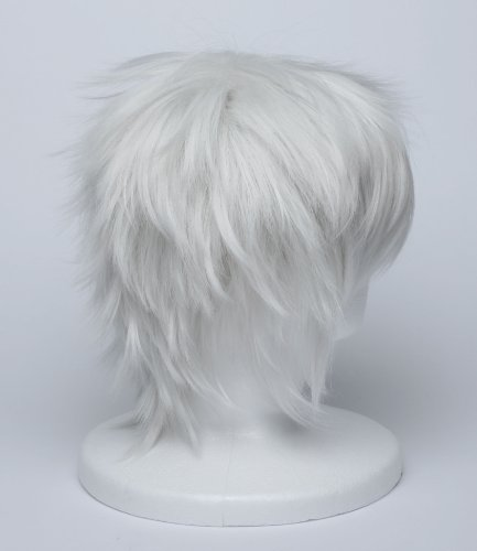 [Cosplay] hitagi wig silver soul Sakata Silver: wind white silver heat-resistant costumes tool accessory Silver