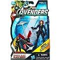 Marvel Avengers Movie 4 Inch Action Figure Grapple Blast Black Widow Grapple Launcher!