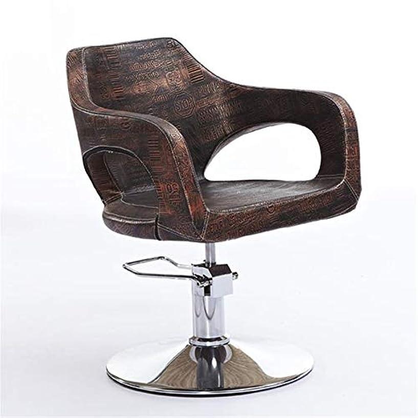 スタイル尊厳フォークサロンチェアファッションヘアサロンチェア美容ヘアカットチェア油圧理髪チェア調節可能な高さ特別なヘアサロン機器,D