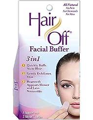Hair Off 顔のバッファ、1つのキット(4パック)