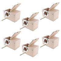 バードルーム バードハウス 巣ボックス 給餌フィーダー 繁殖箱 木製 6個セット