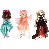 Lovoski 30関節 3個入り フレキシブル ジョイントドボディ ドール 人形 ポーズ おもちゃ 子どもギフト