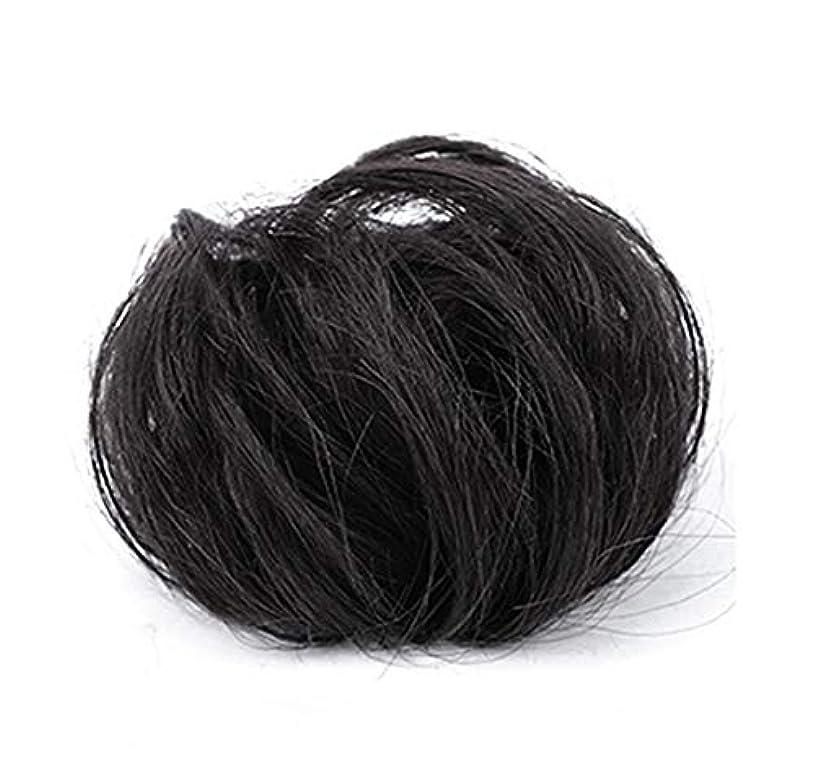 非互換フローティング拮抗するポニーテールシニョンドーナツ拡張機能、乱雑なシュシュ髪お団子リボン、女性用波状小物アクセサリー