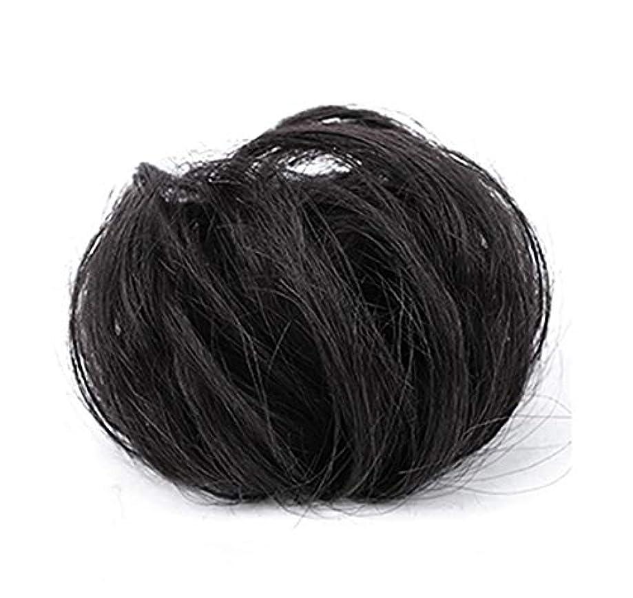 円周実施するポテトポニーテールシニョンドーナツ拡張機能、乱雑なシュシュ髪お団子リボン、女性用波状小物アクセサリー
