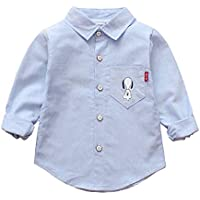 LYWENQINHG キッズシャツ 男の子 チェックシャツ 長袖 猫模様 おしゃれ 通園通学 春秋