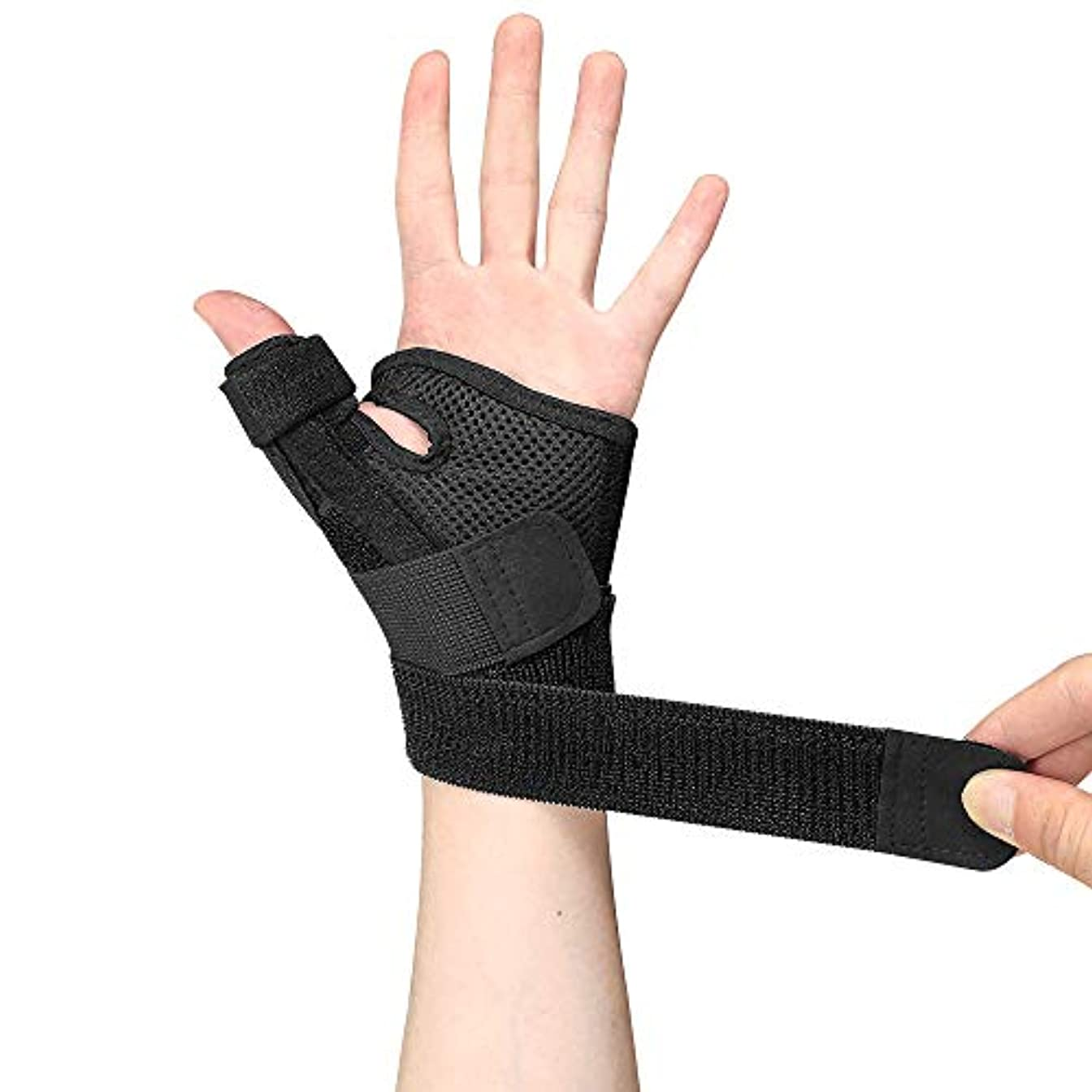 親指スプリント-痛み、捻rain、筋緊張、関節炎、手根管、トリガー用の親指サポートブレース-リストストラップ