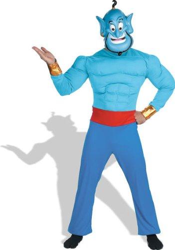 ディズニー公式:「アラジン」ランプの精ジーニー 大人用:ハロ ウィン:コスチューム Genie Muscle Adult ハロウィン サイ ズ:Standard One-Size