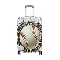 スーツケースカバー 野球 ヒット かっこいい 伸縮素材 保護カバー 紛失キズ 保護 汚れ 卒業旅行 旅行用品 トランクカバー 洗える ファスナー 荷物ケースカバー 個性的