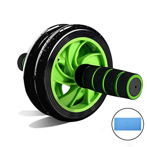 腹筋ローラー 筋トレ腹筋ローラー 超静音 保護マット付き 膝を保護す 初心者に向きます エクササイズホイール (Green-2)