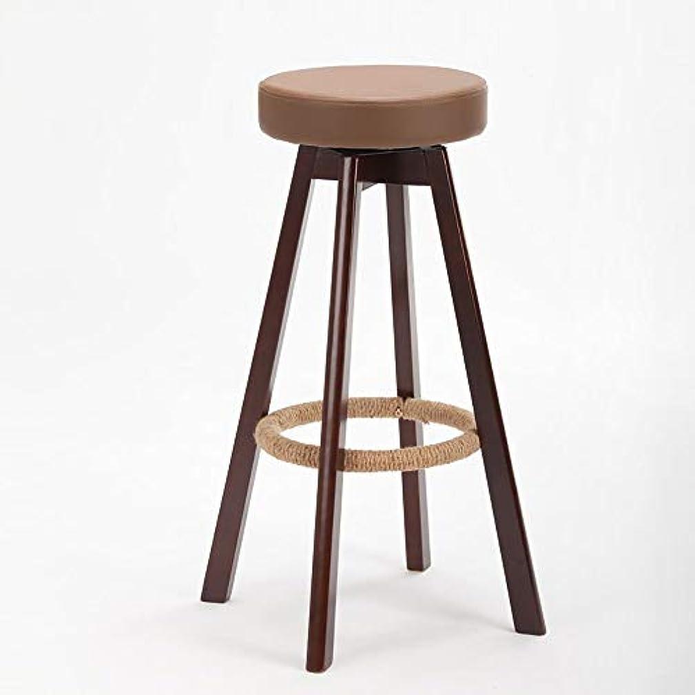 ボクシング変換ママは純木の創造的な高い腰掛け/簡単な棒椅子/レストランの椅子/布の台所腰掛けの椅子を議長を務めます(色:ブラウン、サイズ:65cm),A-ブラウン、74cm