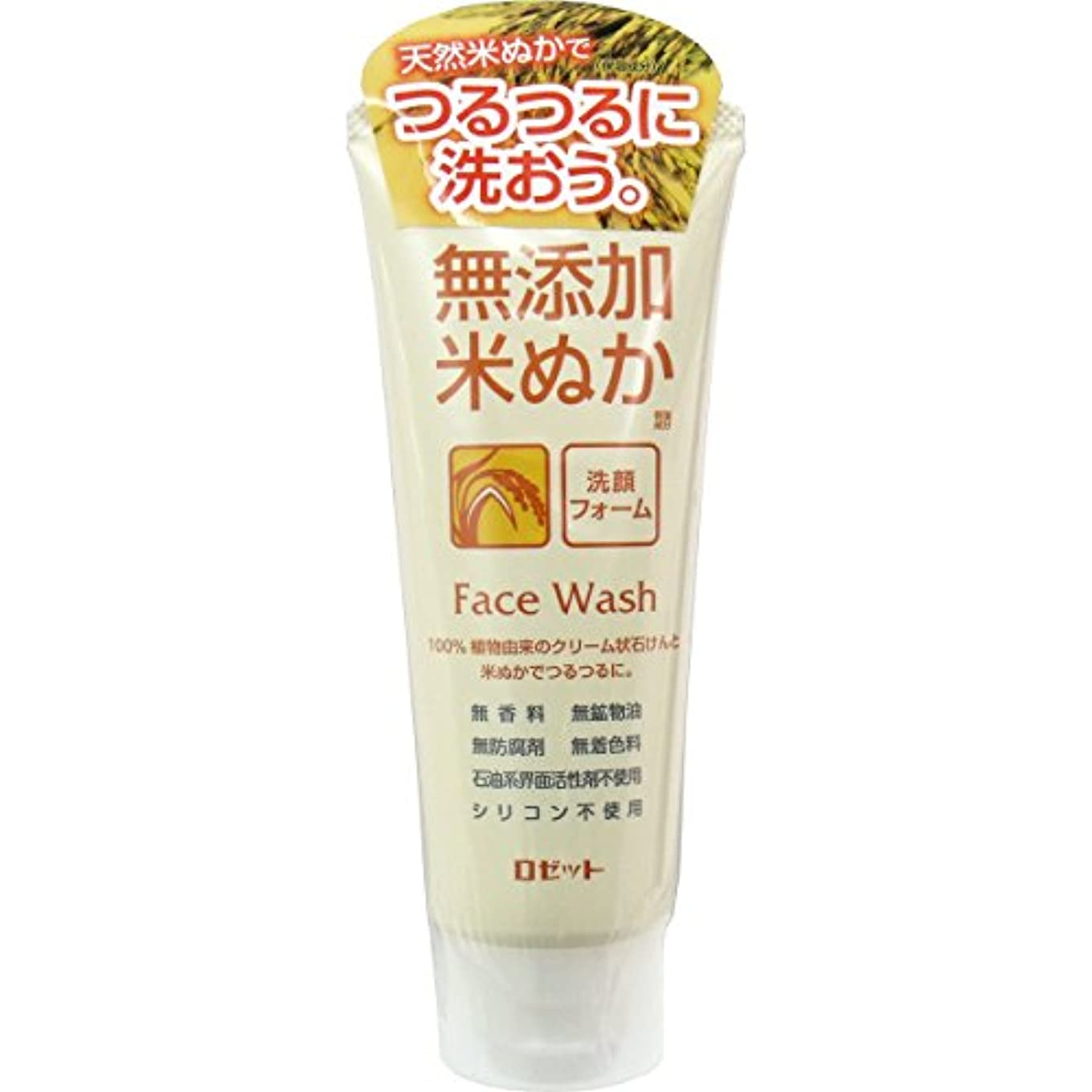 車両名門テープ【ロゼット】無添加米ぬか洗顔フォーム 140g ×10個セット