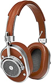 Master & Dynamic MH40 Over-Ear, Wired Headphones with Genuine Lambskin Ear Pads, Brown/Si