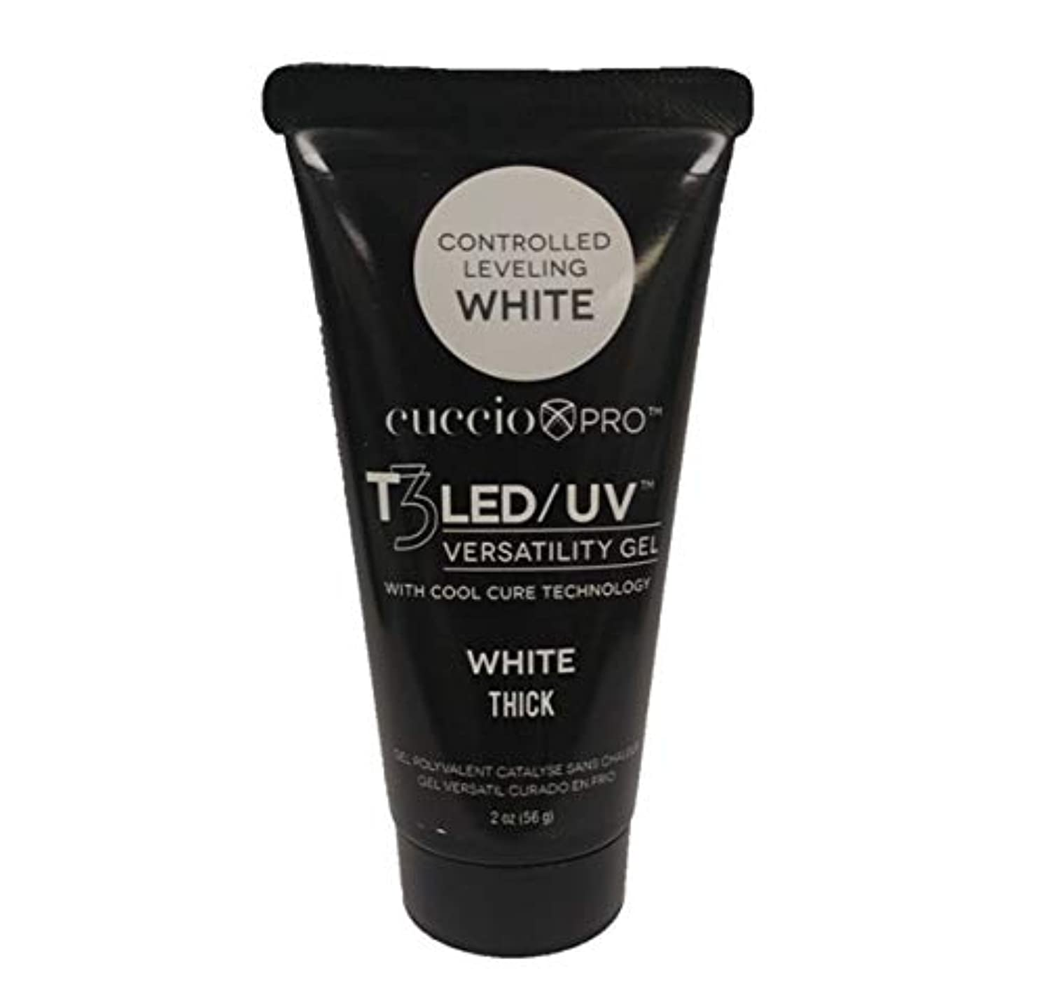 ペストリーうつ青Cuccio - T3 LED/UV Controlled Leveling Gel - Tube - White - 56 g / 2 oz