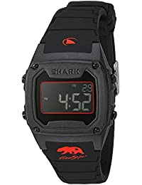 [フリースタイル]Freeestyle 腕時計 SHARK CLASSIC SILICONE デジタル 100m防水 シリコンベルト ブラック レッド 10027426 【正規輸入品】