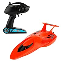 MonkeyJack 3322 Remote Control Boat Mini RC Submarine RC Racing Boat Toy Speedboat Red [並行輸入品]