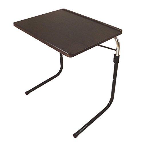 Viseo 角度・高さ調節可能折りたたみサイドテーブル ダークブラウン