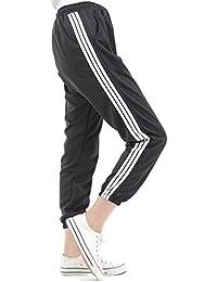 【AU Dream】 ジョガーパンツ ジャージ スウェットパンツ スエット 3 ライン パンツ ズボン レディース