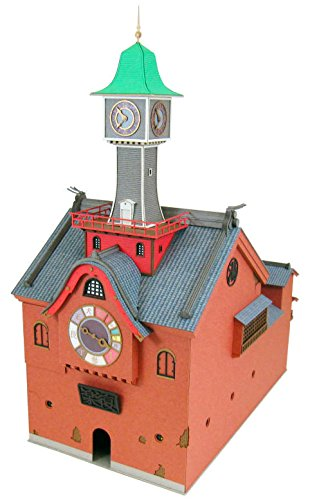 さんけい みにちゅあーとキット スタジオジブリシリーズ 千と千尋の神隠し 時計塔 1/150スケール ペーパークラフト MK07-27