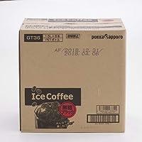 ポッカサッポロ アイスコーヒー ブラック無糖 10個