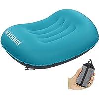 MARCHWAY エアーピロー 空気枕 超軽量 コンパクト 柔らかい 持ち運びやすい 旅行 キャンプ アウトドア ハイキング 睡眠用 車 飛行機 クッション