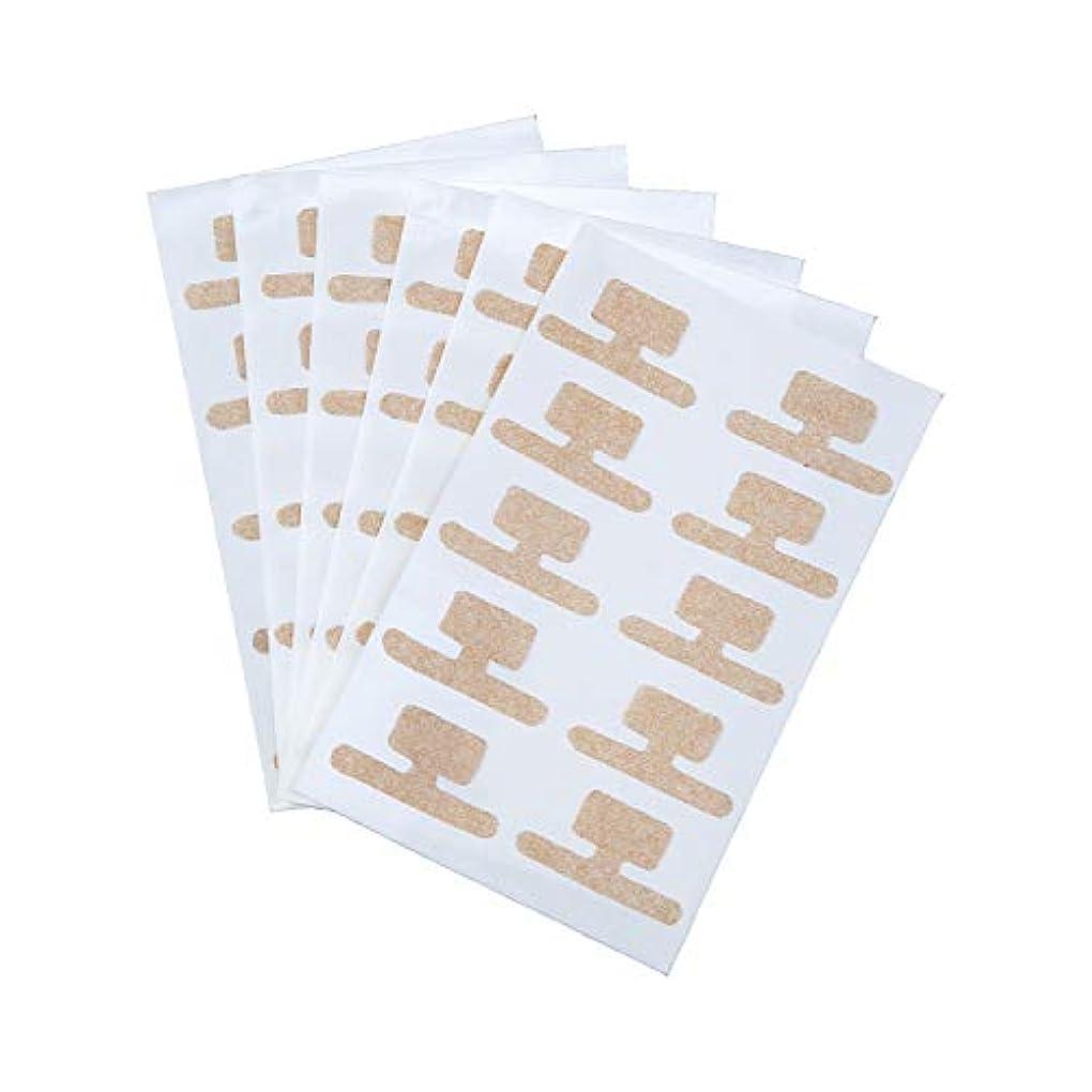 カーテン一族物足りない巻き爪ダブルケアテープ 60枚入 持ち上げ シール 食い込み 痛み サポート 貼るだけ 足 フットケア