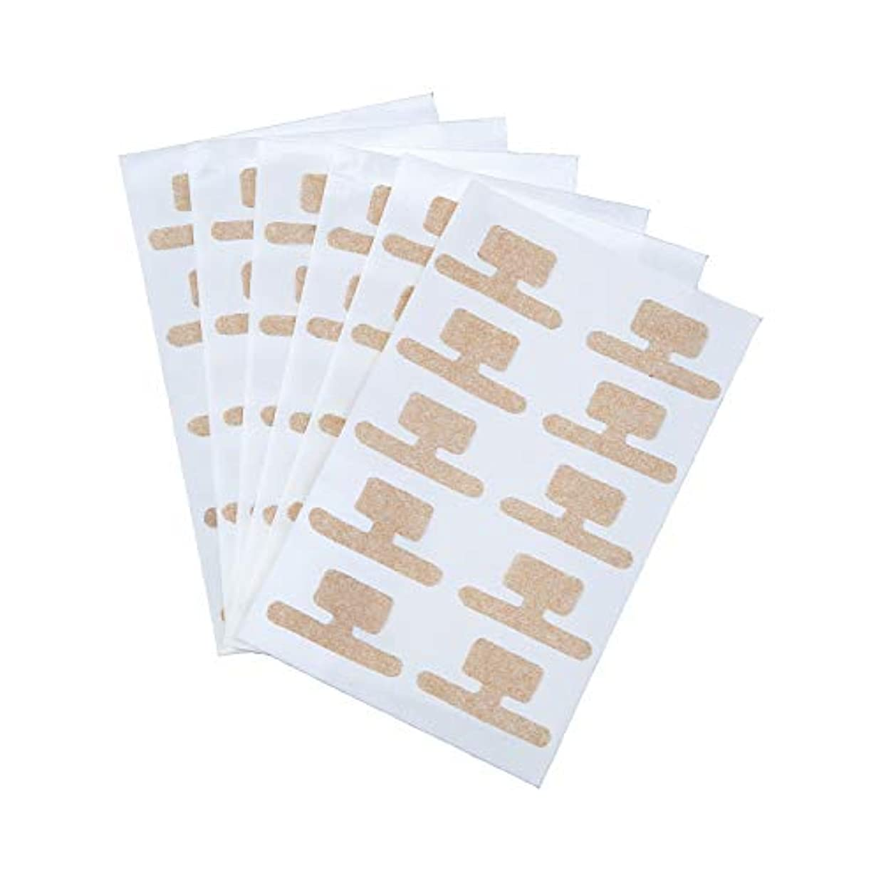 上下する見落とす血統巻き爪ダブルケアテープ 60枚入 持ち上げ シール 食い込み 痛み サポート 貼るだけ 足 フットケア