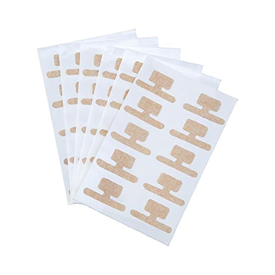 幸運なことに設計高尚な巻き爪ダブルケアテープ 60枚入 持ち上げ シール 食い込み 痛み サポート 貼るだけ 足 フットケア