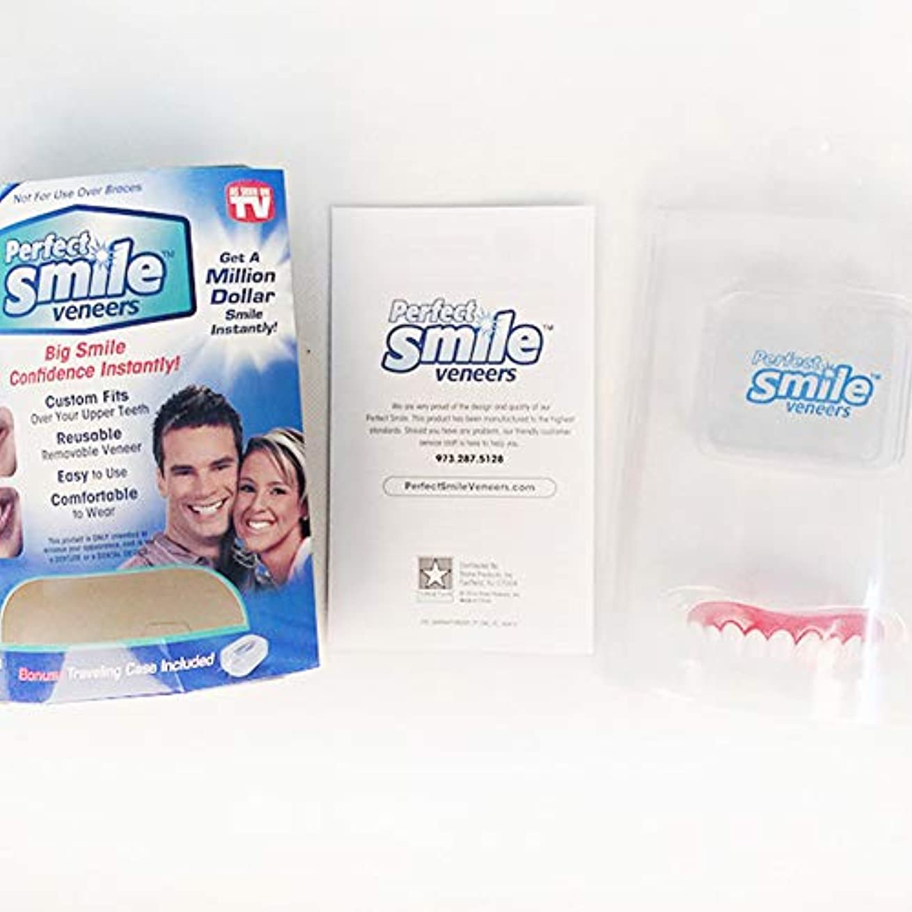 サポート結び目楽しむ化粧品の歯5セット、白い歯をきれいにするための快適なフィットフレックス歯ソケット、化粧品の歯義歯の歯のトップ化粧品