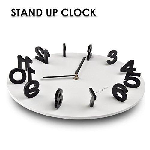 STAND UP CLOCK スタンドアップクロック 壁掛け時計 おしゃれ ウォールクロック インテリアクロック [並行輸入品]