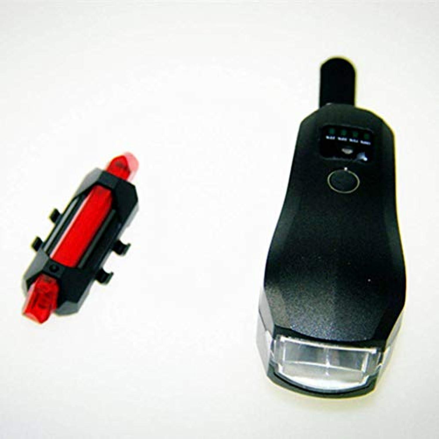 レジデンスビール判決自転車ライトセットUSB充電式、LED自転車ライト安全懐中電灯ナイトサイクリングライト、自転車ヘッドライト無料テールライト