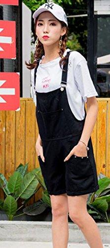 7e10cefec1f824 YiTong レディース ショートパンツ サロペット デニム 夏 パンツ 半分ズボン オーバーオール ジーンズ 大きいサイズ スリム 韓国