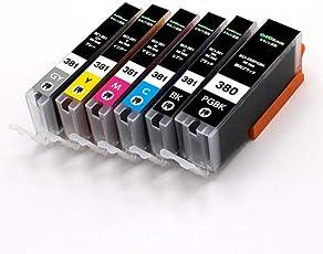 Canon BCI-381 + BCI-380XL 6mp 6色マルチパック 大容量 ( PGBK/BK / C/M / Y/GY ) キャノン 互換 インクカートリッジ 【インク革命製】 残量検知機能ICチップ付き BCI-381 BCI-380 対応 プリンター : PIXUS-TS8130 PIXUS-TS8230