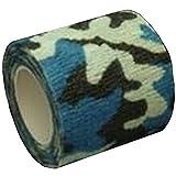 MIRAIS 自着式 再利用可能 カモフラージュテープ 伸縮 迷彩 偽装 布製 サバゲー バードウォッチング カスタム (02海洋迷彩) MR-CAMOTAPE-ME02
