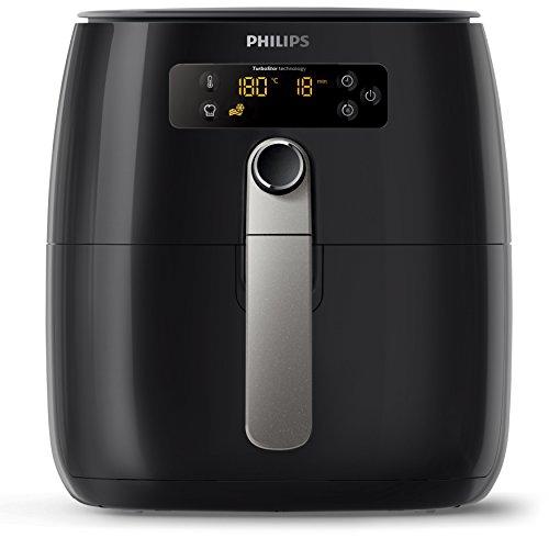 Philips Airfryer Digital TurboStar with QuickClean Basket & Non-Stick Surface, 1425W, 0.8kg, Black, HD9643/17