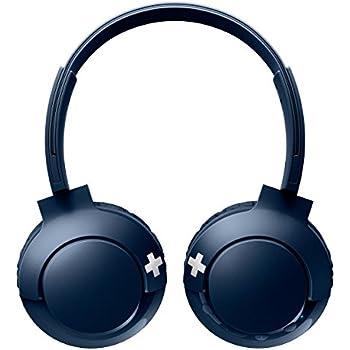 PHILIPS Bluetooth対応マイク付ワイヤレスオンイヤーヘッドホン ブルー SHB3075BL
