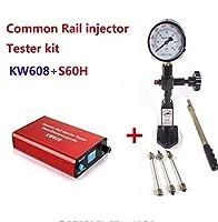 コモンレールインジェクタテスターキットKW608多機能ディーゼルusbインジェクターテスターとs60hコモンレール噴射ノズルテスター
