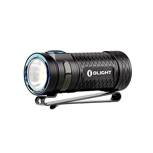 OLIGHT(オーライト) S1 MINI HCRI 軽量小型 高演色 充電式懐中電灯 Cree XM-L2 CW LED搭載 最大450ルーメン 5段階切替 充電式LEDフラッシュライト650mAh RCR123A充電リチウム電池EDCハンディライト/50cm Micro-USB 充電ケーブル/ランヤード付き