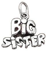 スターリングシルバー女の子0.8MMボックスチェーンBig Sister Wordペンダントネックレス