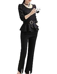 (ラブビューティー) Lovebeauty レディース セットスーツ スーツ パンツスーツ OL オフィス 就職活動 ビジネス 通勤 リクルート 事務服 制服 2点セット