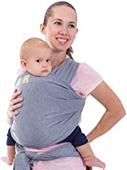 KeaBabies Baby Wrap Carrier All-In-1 Stretchy Baby Wraps - Baby Carrier - Infant Carrier - Baby Wrap - Hands F